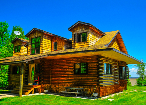 Lakefront Log House